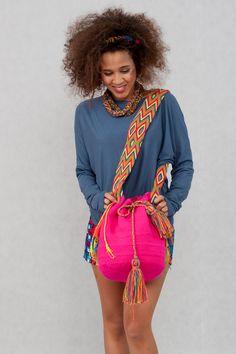 Umhängetaschen - Wayuu Rucksack aus Kolumbien Mehrfarbig - ein Designerstück von KOKOworld bei DaWanda