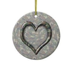 Camouflage Woodland Forest Heart on Camo Christmas Ornament by #Camouflage4you shipping to Tyler, TX #camo #camouflage #military