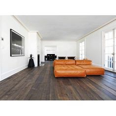 Reclamation Lumber, Antique White Oak Flooring, these dark floors are gorgeous with white but i would only do it distressed & with a low sheen so it is easy to live with Eco Buildings, White Oak Floors, Wood Laminate Flooring, Kitchen Remodel, Beach House, Condo, Hardwood, Arch, Sweet Home