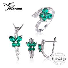 Butterfly Created Emerald Jewelry Set 925 Sterling Silver Ring Necklace Pendant Earring Clip Women Bridal Jewelry Set    139.06, 76.99  Tag a friend who would love this!     FREE Shipping Worldwide     Get it here ---> http://liveinstyleshop.com/jewepalace-butterfly-created-emerald-jewelry-set-925-sterling-silver-ring-necklace-pendant-earring-clip-women-bridal-jewelry-set/    #shoppingonline #trends #style #instaseller #shop #freeshipping #happyshopping
