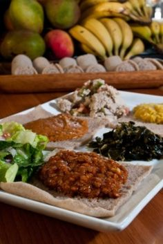 This page contains vegetarian Ethiopian recipes. Ethiopian cuisine is very vegetarian friendly. Alter for vegan versions