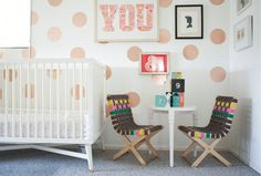 Child's Chair  Oh Joy Collection by twigcreative on Etsy: Playful seating for serious playtime.  Each chair is made from layered plywood, hand-woven using 100% cotton straps, and finished with water-based lacquer. Stylized by Oh Joy!  Ships within 2 to 3 weeks. Measures 25 x 14 x 16 (in.)