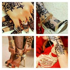 Brides and henna