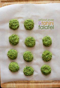 Collard Green Tahini Falafel (Vegan, Gluten Free) via Minimalist Baker Vegan Gluten Free, Gluten Free Recipes, Vegan Vegetarian, Vegetarian Recipes, Healthy Recipes, Healthy Potluck, Vegan Food, Healthy Food, Baker Recipes