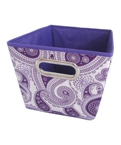 Take A Look At This Purple Paisley Medium Storage Bin By Home Basics On Zulily