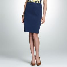 Jones New York: Bottoms > Cotton Stretch Slim Skirt