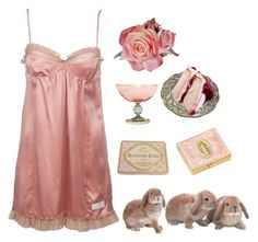 """rosy twilight"" by mairierosina ❤ liked on Polyvore featuring Griffe, Odd Molly and Too Faced Cosmetics"