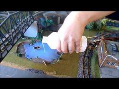 Aplicando 'Realistic Water' (água) na maquete - Ferromodelismo-HO - YouTube