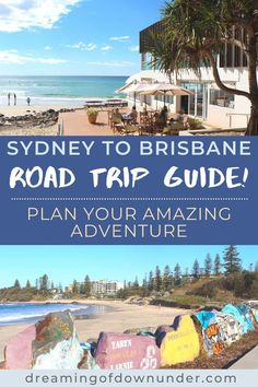 Find out the best places to see on a road trip from Brusbane to Sydney, Australia! This itinerary includes driving distances, top attractions, best towns, such as Byron Bay and Coffs Harbour, accommodation and campsites. #australia #backpacking #roadtrip #brisbane #sydney Sydney Australia Travel, Coast Australia, Queensland Australia, Cities In Wales, Things To Do In Brisbane, Sydney Beaches, East Coast Road Trip, Sydney City, Travel Advise