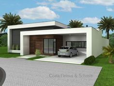 Residência moderna. Arquitetura. Costa, Fizinus & Schmitt arquitetos