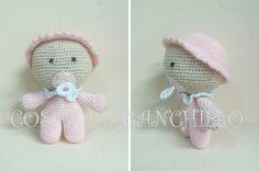 Muñeca 10 cm. Personalizada en bebé rosa 14 euros.