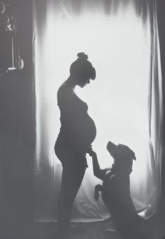 Pitbull pride. Adorable maternity photo ideas with your dog! #maternity #pregnancy #photos