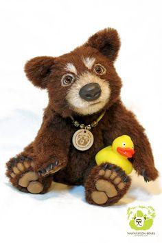 Mikhail by Wayneston Bears #Waynestonstudios #waynestonbears #teddybear #artistbear #teddybearartist #bearartist #realistic #blackbears