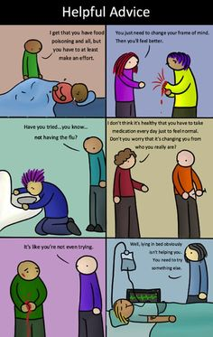 If physical illnesses and injuries were treated like mental illness.