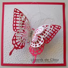 BAPTEME LENA photo 1 BLOG Butterfly Birthday Cards, Butterfly Cards, Making Greeting Cards, Card Making Tutorials, Beautiful Butterflies, Stamping Up, Stampin Up Cards, Thank You Cards, Projects To Try