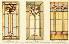 Leaded Glass from International Art Glass Catalogue by National Ornamental Glass Manufacturers Association of the United States and Canada, published in Stained Glass Door, Stained Glass Crafts, Stained Glass Designs, Stained Glass Patterns, Leaded Glass, Art Nouveau, Art Deco, Glass Mosaic Tiles, Colorful Pictures