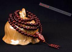 original 108pcs india lobular red sandalwood beaded bracelet
