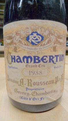 Domaine Armand Rousseau Père et Fils Chambertin 1988 - adore the wine, the house, the style and the label.