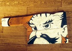 Oklahoma State Pistol Pete Sign by RCBarnwoodCreations on Etsy