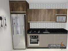 Cozinha pequena de apartamento Simioni Móveis Planejados sob medida cozinhas closet armarios banheiros dormitorio modernos e linha comercial