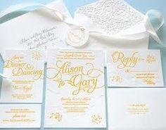 Elegant yellow wedding invitation