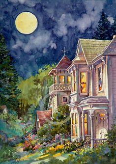 ✿Warming Garden✿ Summers Eve Victorian Houses by Jerianne Van Dijk