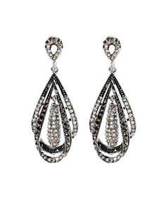 Look what I found on #zulily! Antique Silver Empire State Teardrop Earrings by Amrita Singh #zulilyfinds
