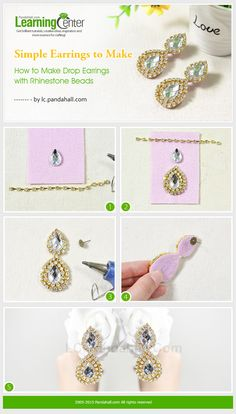 Simple Earrings to Make – How to Make Drop Earrings with Rhinestone Beads