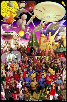 Everything Star Trek: TOS. This poster that has at least one thing from every single episode of Star Trek: TOS that ever existed. Star Trek Enterprise, Nave Enterprise, Old Posters, Movie Posters For Sale, Vintage Posters, Star Trek Original Series, Star Trek Series, Tv Series, Star Wars