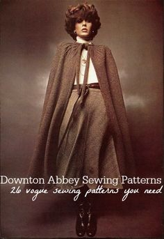 26 Downton Abbey Sewing Patterns: Vogue Sewing Patterns You Need to Have | AllFreeSewing.com