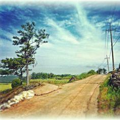 電信柱のある風景 Transmission Line, Scenery, Country Roads, Landscape, Paisajes, Nature