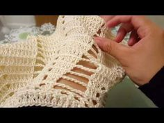 Blusa en crochet (ganchillo) - YouTube
