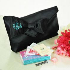 Bridesmaid Clutch with Survival Kit @favorfavor.com