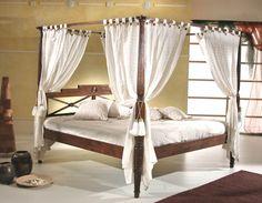 Costruire un letto a baldacchino e dormire come un Pascià: http://blog.gromia.it/costruire-letto-baldacchino-dormire-come-pascia/