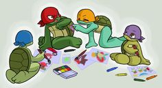 deviantART: More Like TMNT Baby Donatello Art Card by *kevinbolk
