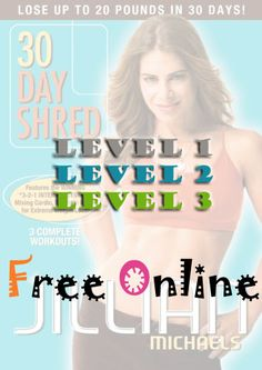 ..................videos Jillian Michaels 30 day shred ~ Free Online