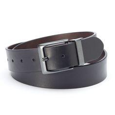 Levi's Cut-Edge Reversible Belt - Men, Size: Medium, Grey (Charcoal)