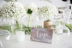 Ιδεες για διακοσμηση γαμου με λευκα λουλουδια
