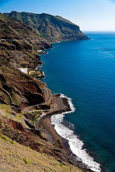 East coast Tenerife by potomo, via Flickr- playa de las Gaviotas- Santa Cruz