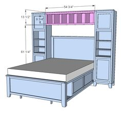 Ana White | Build a Hailey Hutch for Twin and Full Beds | Free and Easy DIY Project and Furniture Plans