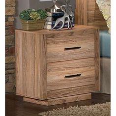 2-Drawer Nightstand in Weathered Teak | Nebraska Furniture Mart