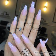 Sheer Milky Pink Long Nail Art Trends & Styles for 20182019 # Acrylic Nail Art - acrylic nails Best Acrylic Nails, Acrylic Nail Art, Coffin Acrylic Nails Long, Coffin Acrylics, Acrylic Nail Shapes, Long Square Acrylic Nails, Acrylic Nails Coffin Kylie Jenner, Turquoise Acrylic Nails, Colored Acrylic Nails