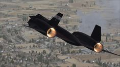 NASA Sr-71 Black Fast Jet