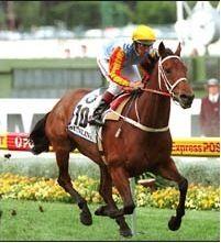Sunline Winning the Cox Plate 1999