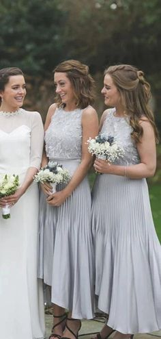 Jewel Lace Bodice Pleated High Low Bridesmaid Dresses Online, Cheap Br – LoverBridal High Low Bridesmaid Dresses, Cheap Bridesmaid Dresses Online, Mismatched Bridesmaid Dresses, Cheap Homecoming Dresses, Brides And Bridesmaids, Dresses For Sale, Bridal Dresses, Buy Wedding Dress, Bridesmaid Inspiration