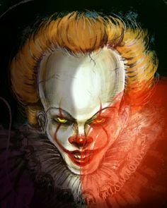 Clown Names, Clown Pics, Horror Movie Characters, Horror Movies, Winter Fire, Ninja Art, Pennywise The Dancing Clown, Horror Icons, Drawing Base