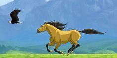 Spirit: Stallion Of The Cimarron Image: Spirit Stallion of the Cimarron Spirit Horse Movie, Spirit The Horse, Spirit And Rain, Horse Animation, Dreamworks Animation, Kentucky Derby, Caballo Spirit, Mustang, Spirit Drawing