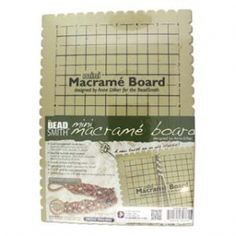 Latest Photo mini Macrame projects Concepts Beadsmith Mini Macrame Board x x Inch) Inches With Free Bracelet Project ~ Id Macrame Supplies, Macrame Projects, Beading Supplies, Macrame Knots, Micro Macrame, Macrame Hanging Planter, Hanging Planters, Beads Online, Jewelry Making Tools