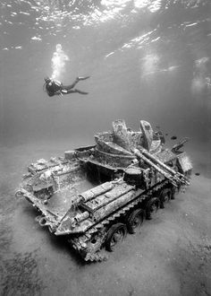 Submerged WW2 Tank