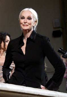 Carmen Dell'Orefice attends the Alberta Ferretti fashion show during Pitti Immagine Uomo 79 on January 11, 2011 in Florence, Italy. Getty Images
